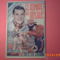 Libros antiguos: EL HOMBRE DEL BOSQUE-BIBLIOTECA FILMS-PARAMOUNT FILS-ARGUMENTO PELICULA- . Lote 45266854