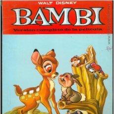 Libros antiguos: BAMBI - VERSION COMPLETA DE LA PELICULA - COLECCION CUCAÑA (1982). Lote 48989121
