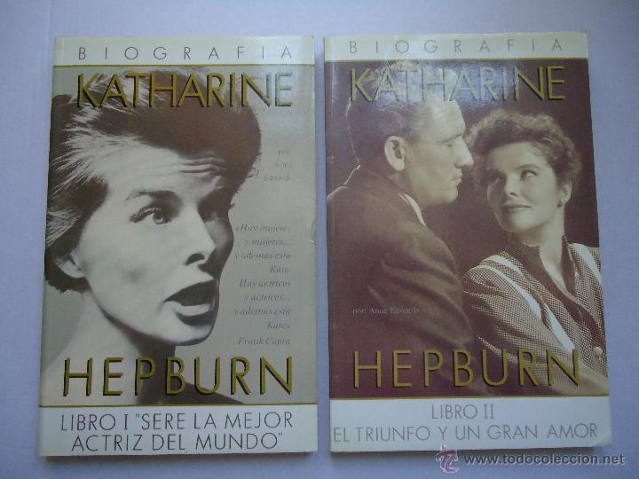 LIBRO. KATHARINE HEPBURN, SU BIOGRAFÍA.EN DOS TOMOS, CON NUMEROSAS FOTOS. (Libros Antiguos, Raros y Curiosos - Bellas artes, ocio y coleccion - Cine)