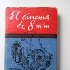Libros antiguos: EL CINEMA DE 8 M/M, DE LA TOMA DE VISTAS A LA PROYECCIÓN, N. BAU, IMPECABLE, LIBRO DEL AÑO 1961. Lote 72923363