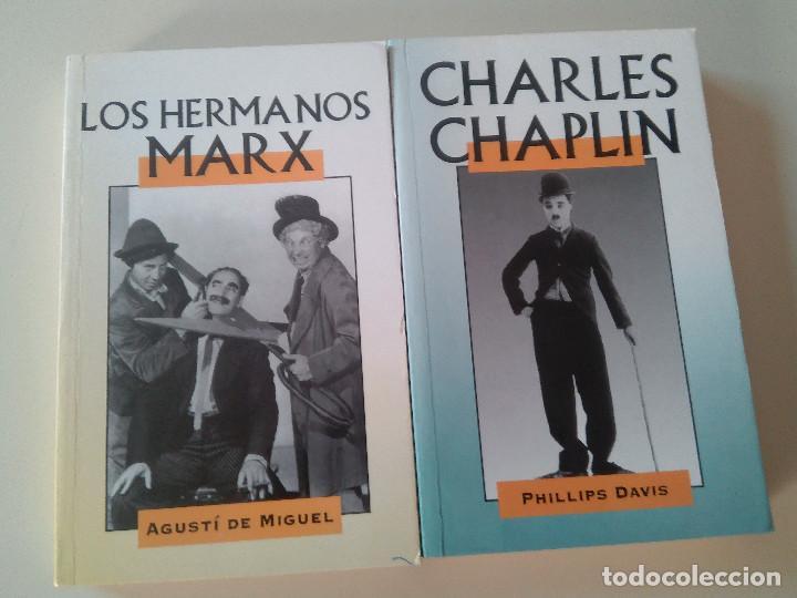 LOTE 2 LIBROS-LOS HERMANOS MARX-CHARLES CHAPLIN-EDITADO POR EDIMAT LIBROS-1998- (Libros Antiguos, Raros y Curiosos - Bellas artes, ocio y coleccion - Cine)