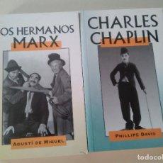 Libros antiguos: LOTE 2 LIBROS-LOS HERMANOS MARX-CHARLES CHAPLIN-EDITADO POR EDIMAT LIBROS-1998- . Lote 83278052