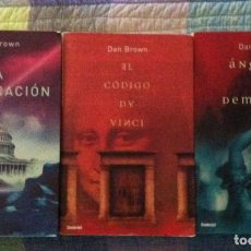 Old books - DAN BROWN Trilogia LA CONSPIRACION EL CODIGO DA VINCI ANGELES Y DEMONIOS - 85057152