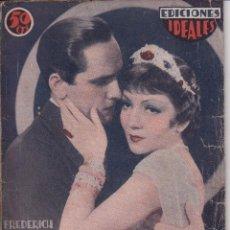 Libros antiguos: LA NOVELA CINEMATOGRÁFICA: REINA EL AMOR. FREDERICH MARCH, CLAUDETTE COLBERT. STUART WALKER 193?. Lote 100574387