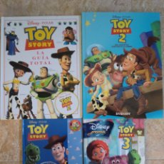 Libros antiguos: LOTE DE 4 LIBROS DE TOY STORY, 2 Y 3. EDITORIAL SALVAT, EVEREST, WALT DISNEY Y GAVIOTA. BUEN ESTADO. Lote 84966332