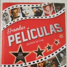 Libros antiguos: GRANDES PELICULAS. 100 AÑOS DE CINE. MAS DE 600 MARAVILLOSAS FOTOGRAFIAS. ANDREW HERITAGE. PARRAGON,. Lote 111898679