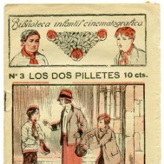 Libros antiguos: LOS DOS PILLETES, POR J. FOREST Y L. SHAW. BIBLIOTECA INFANTIL CINEMATOGRÁFICA, Nº 3. BARCELONA. Lote 118555751