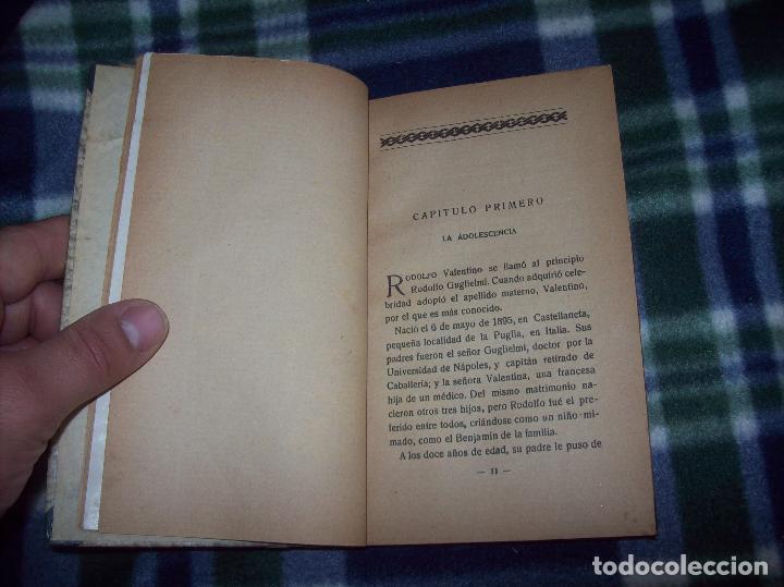 Libros antiguos: EL ÍDOLO DE LAS MUJERES. RODOLFO VALENTINO. NARRACIÓN VERIDICA DE LOS AMORES Y VIDA DEL...1929 - Foto 5 - 121823751