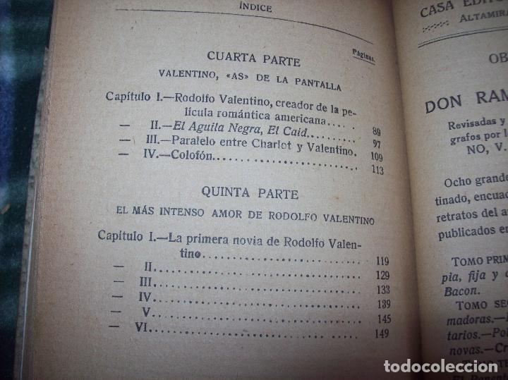 Libros antiguos: EL ÍDOLO DE LAS MUJERES. RODOLFO VALENTINO. NARRACIÓN VERIDICA DE LOS AMORES Y VIDA DEL...1929 - Foto 13 - 121823751