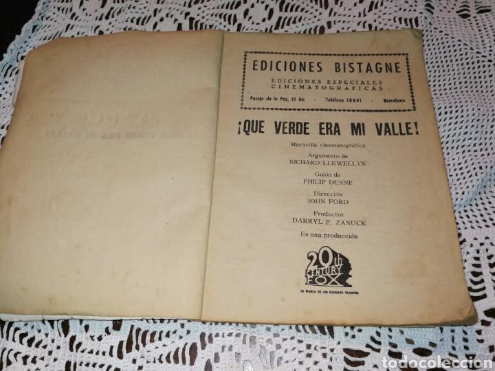 Libros antiguos: QUE VERDE ERA MI VALLE. JOYA DE COLECCIONISTAS. - Foto 3 - 121924858