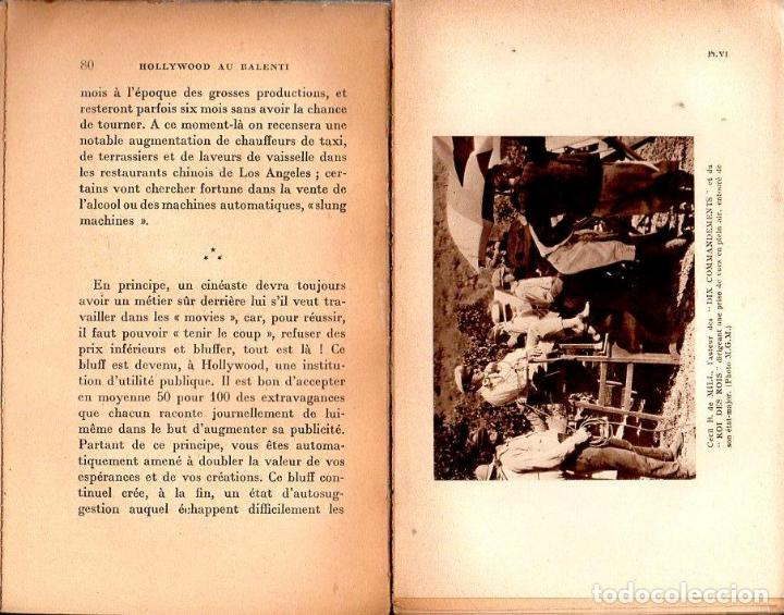 Libros antiguos: MEUNIER SOURCOUF : LART CINEMATOGRAPHIQUE - HOLLYWOOD AU RALENTI (ALCAN, PARIS, 1929) - Foto 2 - 122946083