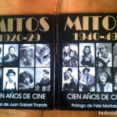 Libros antiguos: LIBROS CIEN AÑOS DE CINE , MITOS DE ROYAL BOOKS AÑO 1995. Lote 123042595