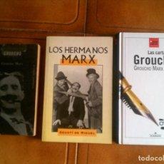 Libros antiguos: LOTE DE LIBROS DE LOS HERMANOS MARX - POR AGUSTI DE MIGUEL 185 PAJINAS AÑO 1998. Lote 123051223