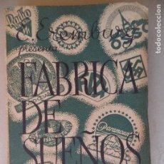 Libros antiguos: FABRICA DE SUEÑOS E.EREMBURG EDITORIAL CENIT AÑO 1932 BUEN ESTADO. Lote 123247351