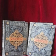Libros antiguos: 1833 OBRA COMPLETAS DE WILLIAM SHAKESPEARE ROMEO Y JULIETA EL MERCADER DE VENECIA Y MAS EN DOS TOMOS. Lote 130612472