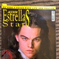 Libros antiguos: ACCION ESTRELLAS STARS LEONARDO DICAPRIO DI CAPRIO LIBRO REVISTA FOTOS TITANIC EL RENACIDO POSTER. Lote 132111550