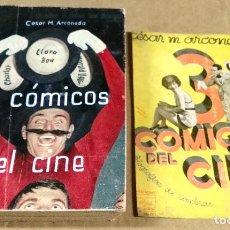 Libros antiguos: CÉSAR M. ARCONADA, 3 CÓMICOS DEL CINE, EDICIONES ULISES, 1931, 1ª EDICIÓN. Lote 136289954
