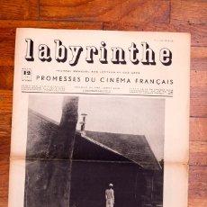 Libros antiguos: LABYRINTHE - JOURNAL MENSUEL DES LETTRES ET DES ARTS N° 12 - PROMESSES DU CINÉMA FRANÇAIS. Lote 136867854