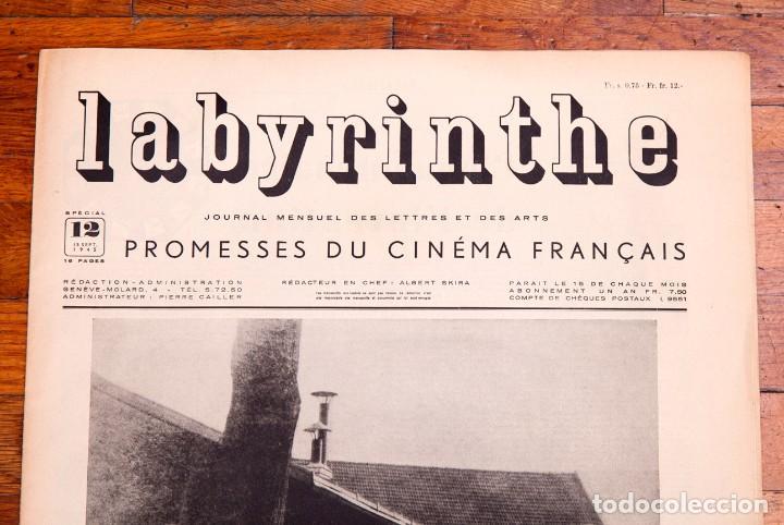 Libros antiguos: Labyrinthe - Journal mensuel des Lettres et des Arts N° 12 - Promesses du cinéma français - Foto 2 - 136867854