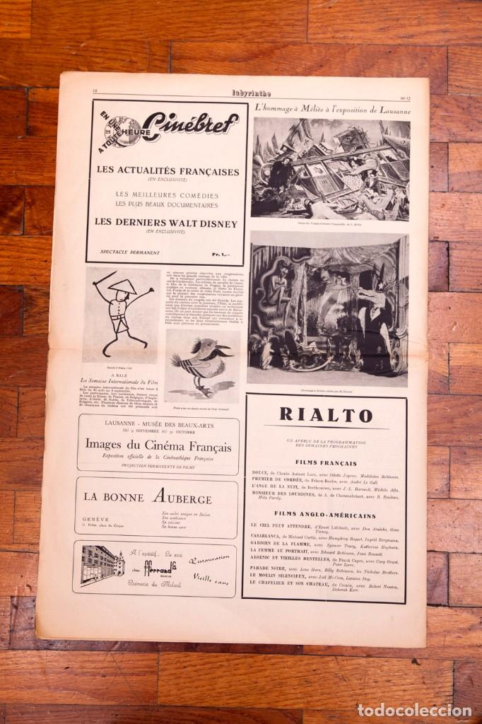 Libros antiguos: Labyrinthe - Journal mensuel des Lettres et des Arts N° 12 - Promesses du cinéma français - Foto 7 - 136867854