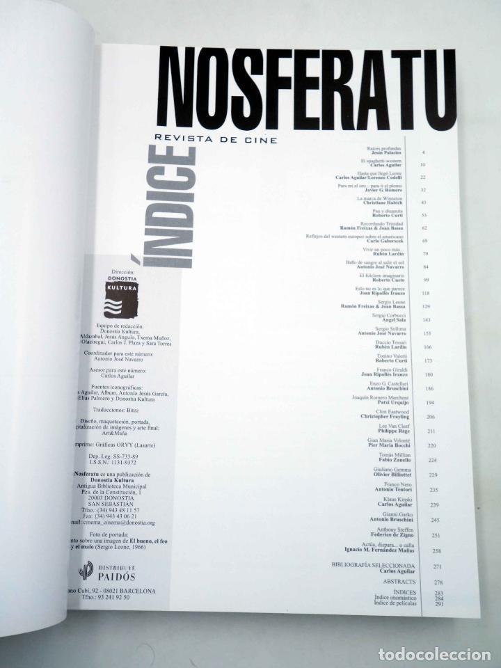 Alte Bücher: NOSFERATU REVISTA DE CINE 41 42. NÚMERO DOBLE. EURO WESTERN (VVAA), 2002. OFRT - Foto 3 - 147579780