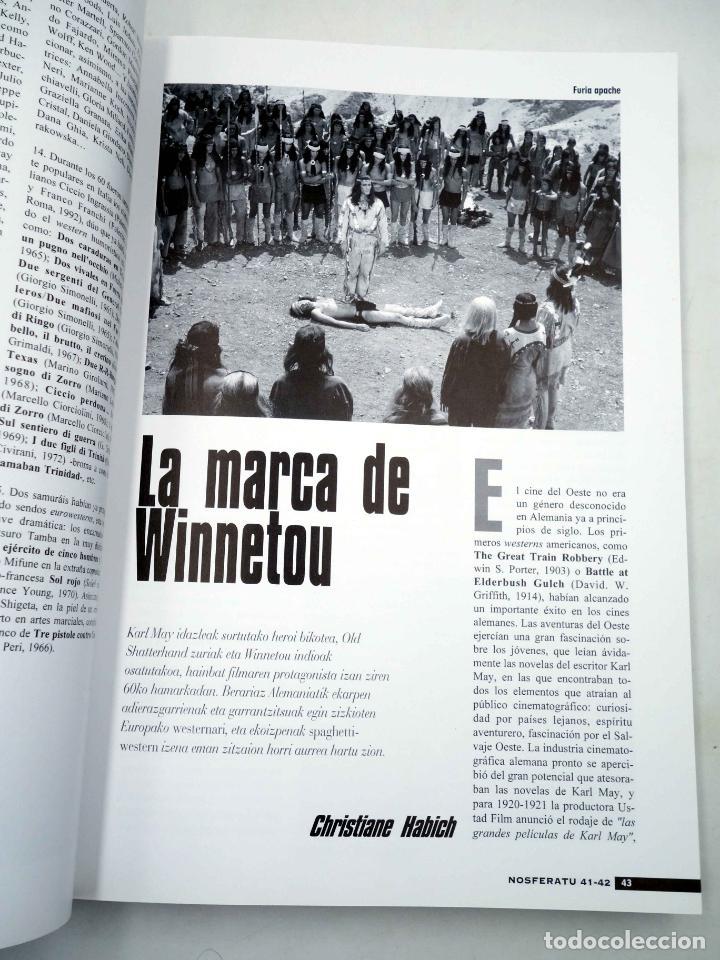 Alte Bücher: NOSFERATU REVISTA DE CINE 41 42. NÚMERO DOBLE. EURO WESTERN (VVAA), 2002. OFRT - Foto 6 - 147579780