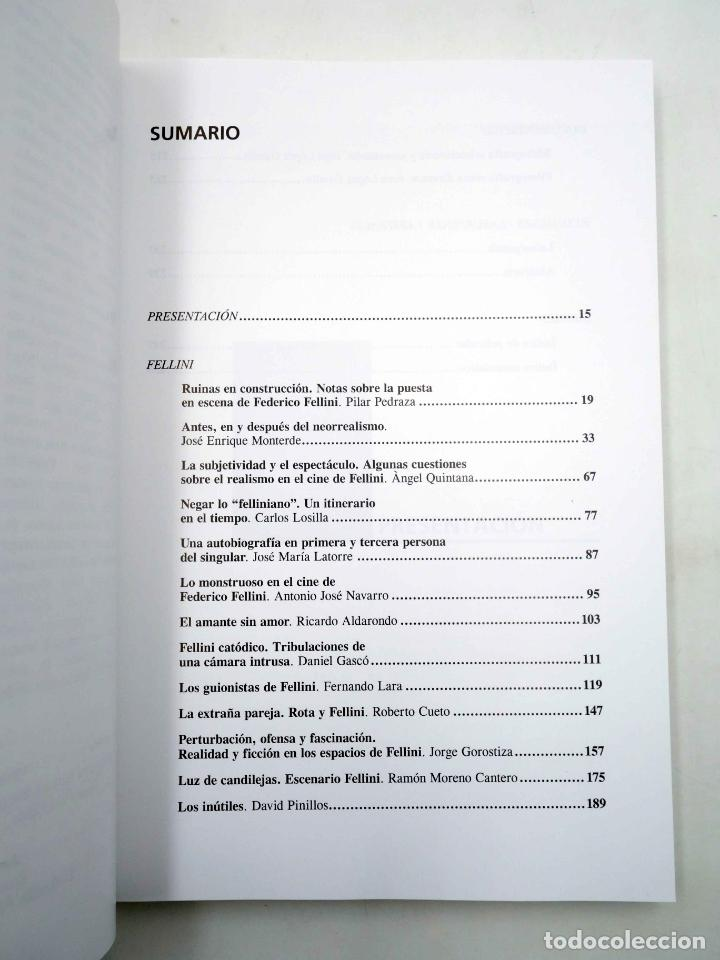 Libros antiguos: COLECCIÓN NOSFERATU 7. FEDERICO FELLINI (José María Latorre) Nosferatu, 2011. OFRT antes 18E - Foto 3 - 147579788