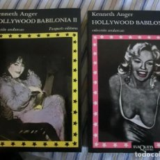 Libros antiguos: HOLLYWOOD BABILONIA 2 TOMOS KENNETH ANGER. Lote 143078838