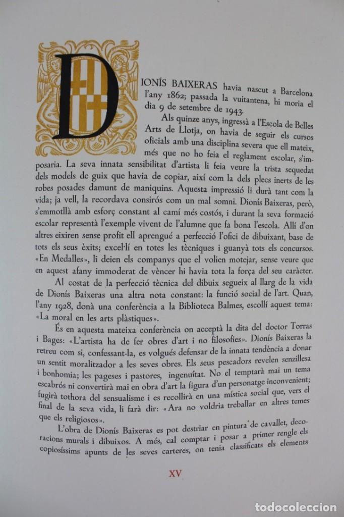 Libros antiguos: L- 2892. BARCELONA VISTA PER DIONIS BAIXERAS. 50 DIBUIXOS PRECEDITS D'UN ESTUDI AGUSTI DURAN.1947. - Foto 7 - 148456246