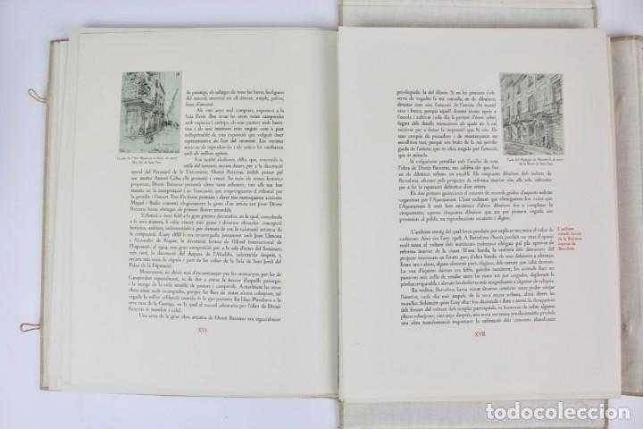 Libros antiguos: L- 2892. BARCELONA VISTA PER DIONIS BAIXERAS. 50 DIBUIXOS PRECEDITS D'UN ESTUDI AGUSTI DURAN.1947. - Foto 8 - 148456246