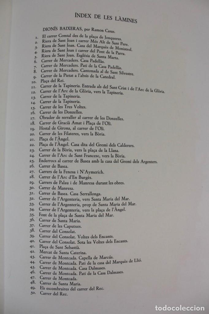 Libros antiguos: L- 2892. BARCELONA VISTA PER DIONIS BAIXERAS. 50 DIBUIXOS PRECEDITS D'UN ESTUDI AGUSTI DURAN.1947. - Foto 14 - 148456246