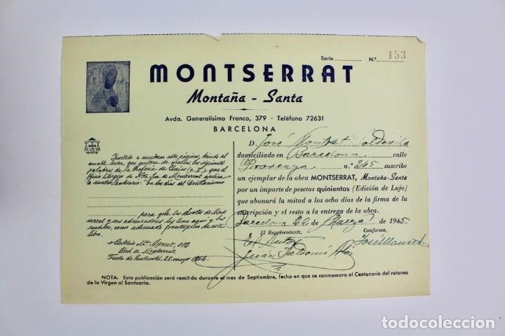 Libros antiguos: L-2655. MONTSERRAT, MONTAÑA SANTA. EJEMPLAR NUMERADO. ILUSTRADO CON GRABADOS. 1945. - Foto 4 - 148456558