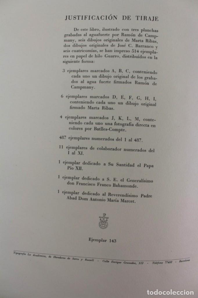 Libros antiguos: L-2655. MONTSERRAT, MONTAÑA SANTA. EJEMPLAR NUMERADO. ILUSTRADO CON GRABADOS. 1945. - Foto 5 - 148456558