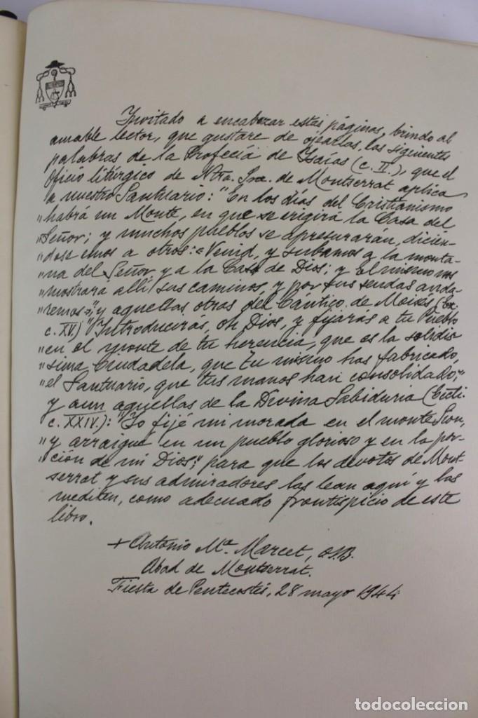 Libros antiguos: L-2655. MONTSERRAT, MONTAÑA SANTA. EJEMPLAR NUMERADO. ILUSTRADO CON GRABADOS. 1945. - Foto 6 - 148456558