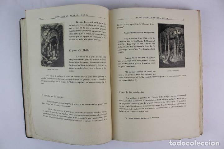 Libros antiguos: L-2655. MONTSERRAT, MONTAÑA SANTA. EJEMPLAR NUMERADO. ILUSTRADO CON GRABADOS. 1945. - Foto 9 - 148456558
