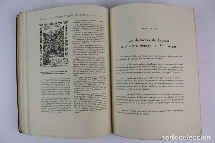 Libros antiguos: L-2655. MONTSERRAT, MONTAÑA SANTA. EJEMPLAR NUMERADO. ILUSTRADO CON GRABADOS. 1945. - Foto 11 - 148456558
