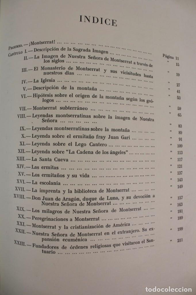 Libros antiguos: L-2655. MONTSERRAT, MONTAÑA SANTA. EJEMPLAR NUMERADO. ILUSTRADO CON GRABADOS. 1945. - Foto 12 - 148456558