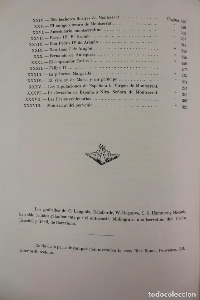 Libros antiguos: L-2655. MONTSERRAT, MONTAÑA SANTA. EJEMPLAR NUMERADO. ILUSTRADO CON GRABADOS. 1945. - Foto 13 - 148456558