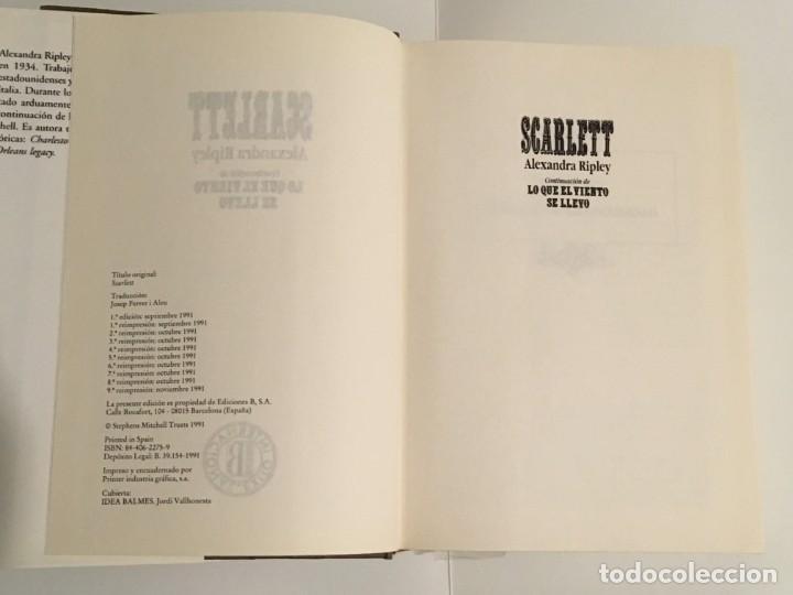 Libros antiguos: Scarlet - LO QUE EL VIENTO SE LLEVO - Foto 2 - 149747434