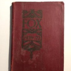 Libros antiguos: AGENDA FOX 1926-1927. Lote 149755230