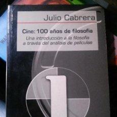 Libros antiguos: CINE: 100 AÑOS DE FILOSOFIA, JULIO CABRERA, GEDISA EDITORIAL. Lote 150086886