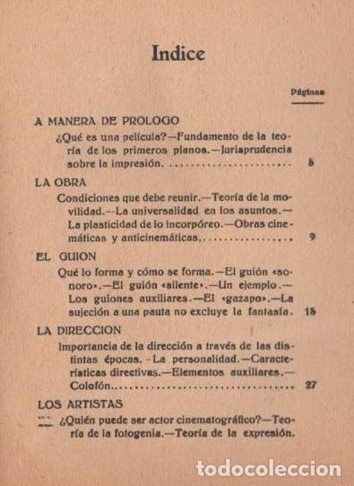 Libros antiguos: SABINO MICÓS : CÓMO SE HACEN LAS PELÍCULAS (IBEROAMERICANA, 1929) DEDICADO Y FIRMADO POR EL AUTOR - Foto 3 - 117383835