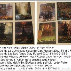 Libros antiguos: LOTE 8 LIBROS SEÑOR DE LOS ANILLOS . . Lote 171723019