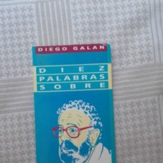 Libros antiguos: DIEZ PALABRAS SOBRE BERLANGA, DE DIEGO GALAN. Lote 171762840