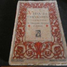Libros antiguos: LIBRO INTONSO ED PROMETEO CERVANTES POR SU PRIMER BIOGRAFO, UNA HOJA PINTADA PESA 200 GR. Lote 172168958
