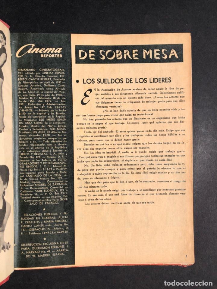 Libros antiguos: 1956 Tomo Revista Cinema Reporter - México - CINE - TV - CARMEN SEVILLA - LOLA FLORES - Foto 4 - 182586147