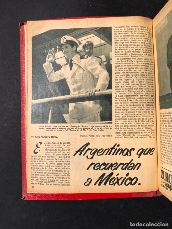 Libros antiguos: 1956 Tomo Revista Cinema Reporter - México - CINE - TV - CARMEN SEVILLA - LOLA FLORES - Foto 6 - 182586147