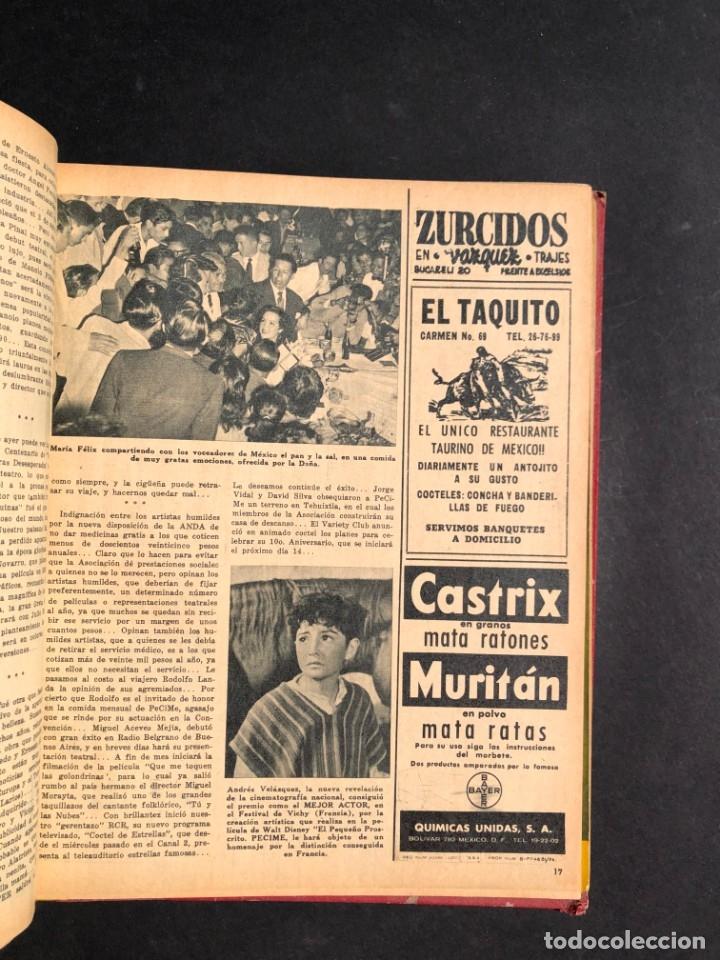 Libros antiguos: 1956 Tomo Revista Cinema Reporter - México - CINE - TV - CARMEN SEVILLA - LOLA FLORES - Foto 16 - 182586147