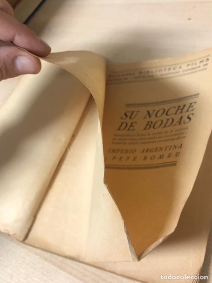 Libros antiguos: Libro SU NOCHE DE BODAS IMPERIO ARGENTINA I PEPE ROMEU. EDICIONES BIBLIOTECA FILMS - Foto 5 - 195150530