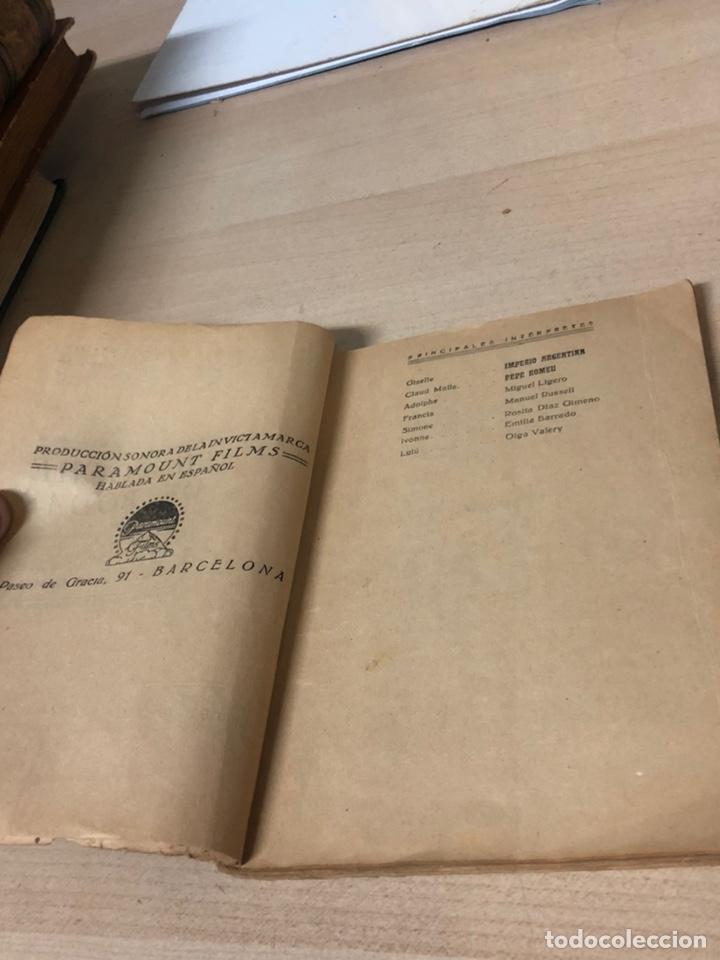 Libros antiguos: Libro SU NOCHE DE BODAS IMPERIO ARGENTINA I PEPE ROMEU. EDICIONES BIBLIOTECA FILMS - Foto 6 - 195150530
